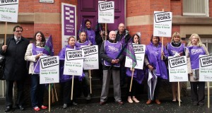 Probation staff outside the Manchester Probation Office, Minshull Stree