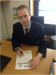 Stalybridge & Hyde MP Jonathan Reynolds signing the petition.