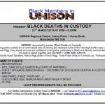 Black Deaths in Custody Screening
