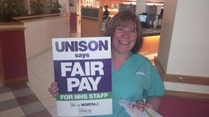NHS Pay breaks - Preston
