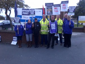 Healtrh workers in Warrington.  Enough is enough - the Government finds money for some things, why not for NHS workers?