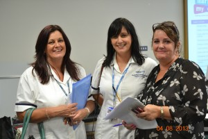 ULR Coordinator Marie Reece and two happy learners