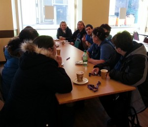 Members' drop-in at Manchester University Hall of Residence in Fallowfield