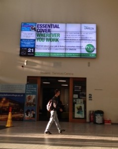 UNISON's essential cover prominently displayed at Bolton College.
