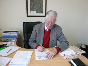 Michael Meacher with NHS Petition 14
