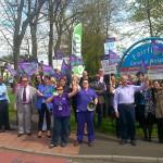 Demo at Bury, 240414