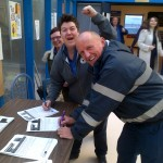Staff signing