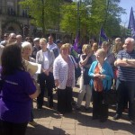 UNISON Rally in Rochdale Town Centre
