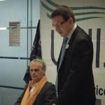 Paul Foley Regional Organiser and Andrew Gwynne MP