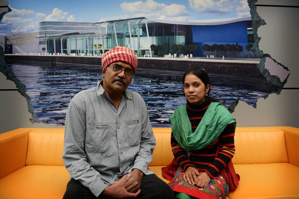 Satinath Sarangi (left) and Safreen Khan (right)
