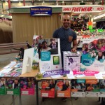 Digital champion Zak with the stall at the launch
