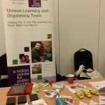 The UNISON learning stall (fresh fruit just out of shot)