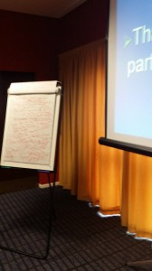The notes board at the end of a feverish session
