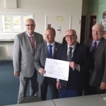 Mike Connolly, Steve Morton, Mike Kelly and Trevor Holt with the Learning Agreement