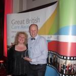 Dawn and Steve with their award