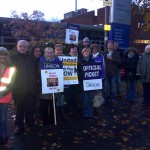 Roscoe & Gladstone Hall picket.
