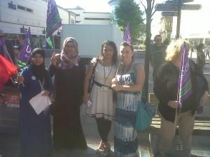 Early learning workers on strike in Blackburn
