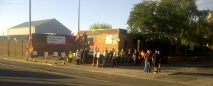 Turnpike House today.  Pickets from UNISON, GMB and Unite together for fair pay.
