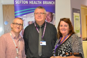 Steve Swift, Dave Woodward and Marie Reece at the Digital Inclusion launch
