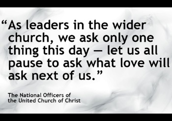 UCC officers urge worshippers to tap healing power of love to close political divide