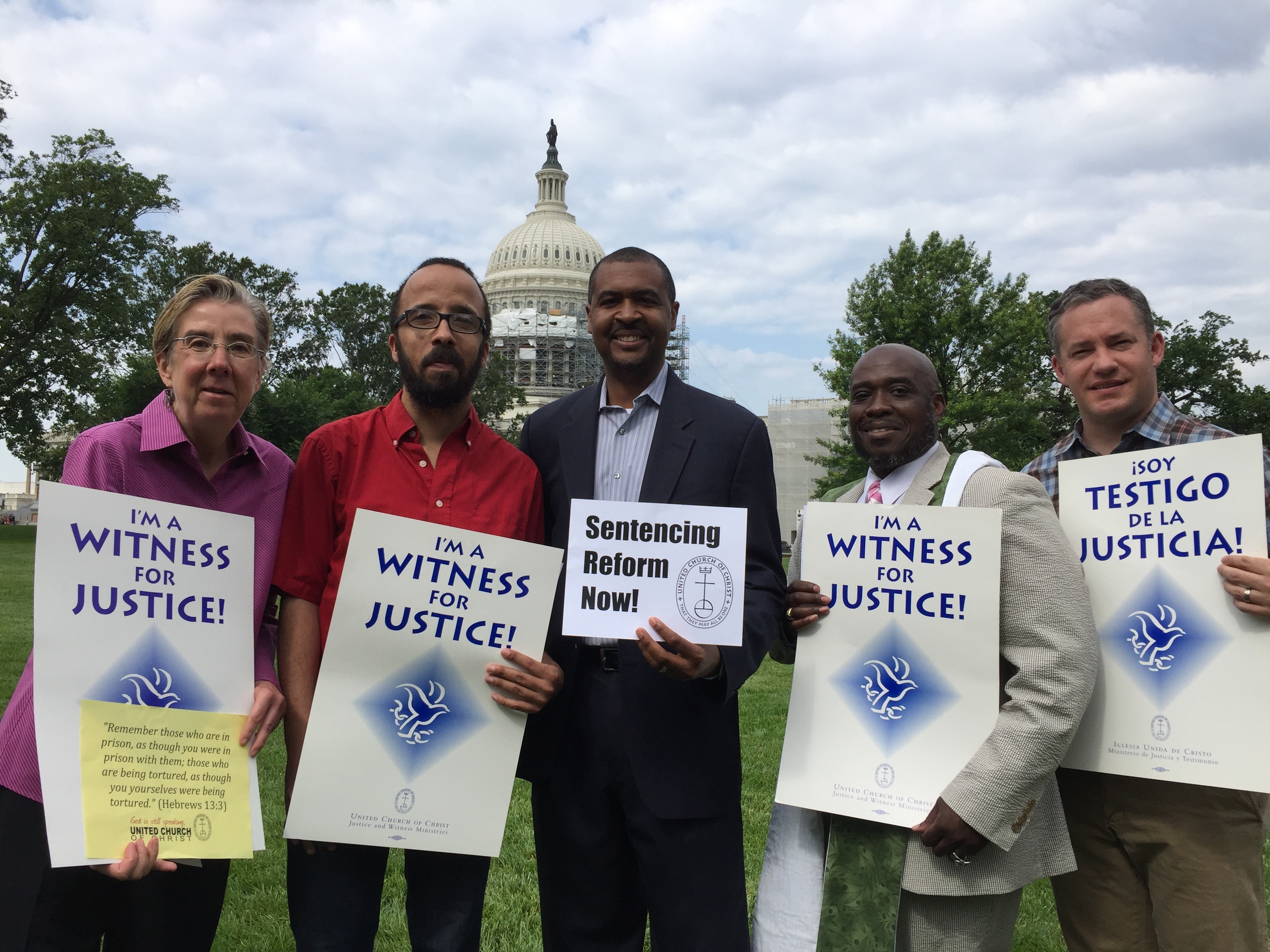People of faith calling for sentencing reform at the U.S. Capitol