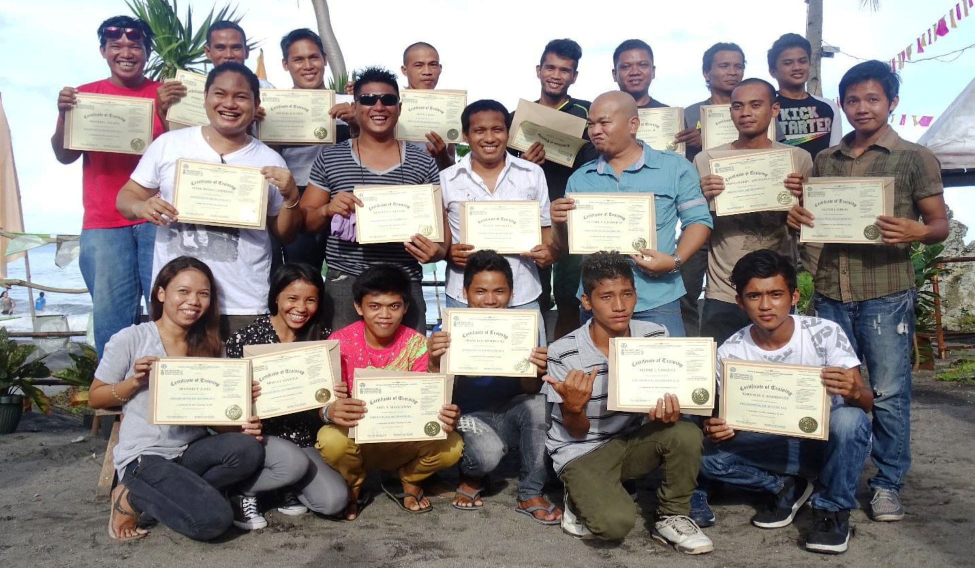 November 2015 graduates of UCC-supported livelihoods training