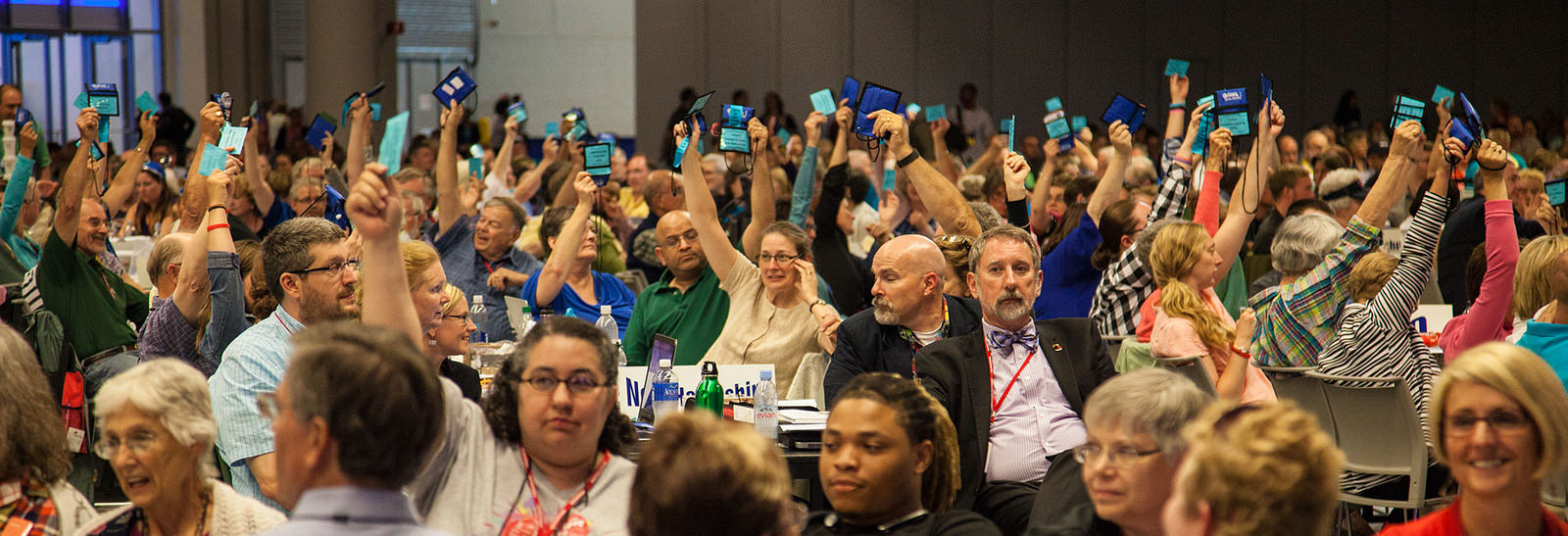 Delegates voting at the 30th General Synod in Cleveland