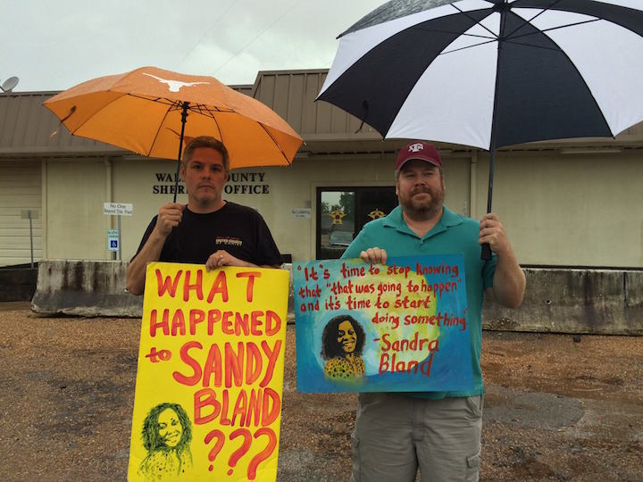 Christian demonstrators for justice for Sandra Bland