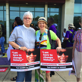 Rev. Lynette Ross and Rev. Ginny Brown Daniel for justice for Sandra Bland