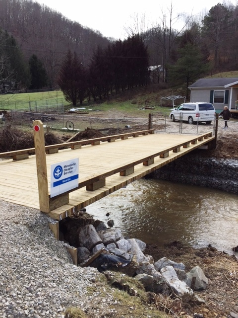 New driveway bridge in West Virginia