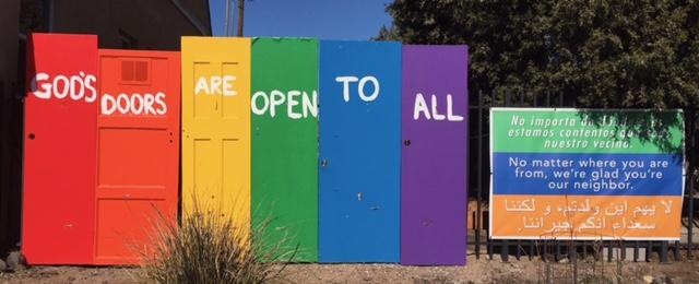 Open Church Doors god's open doors' in albuquerque prominently proclaim church