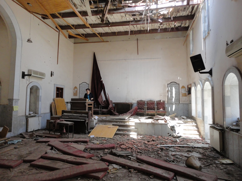 Syrian church war damage 2014