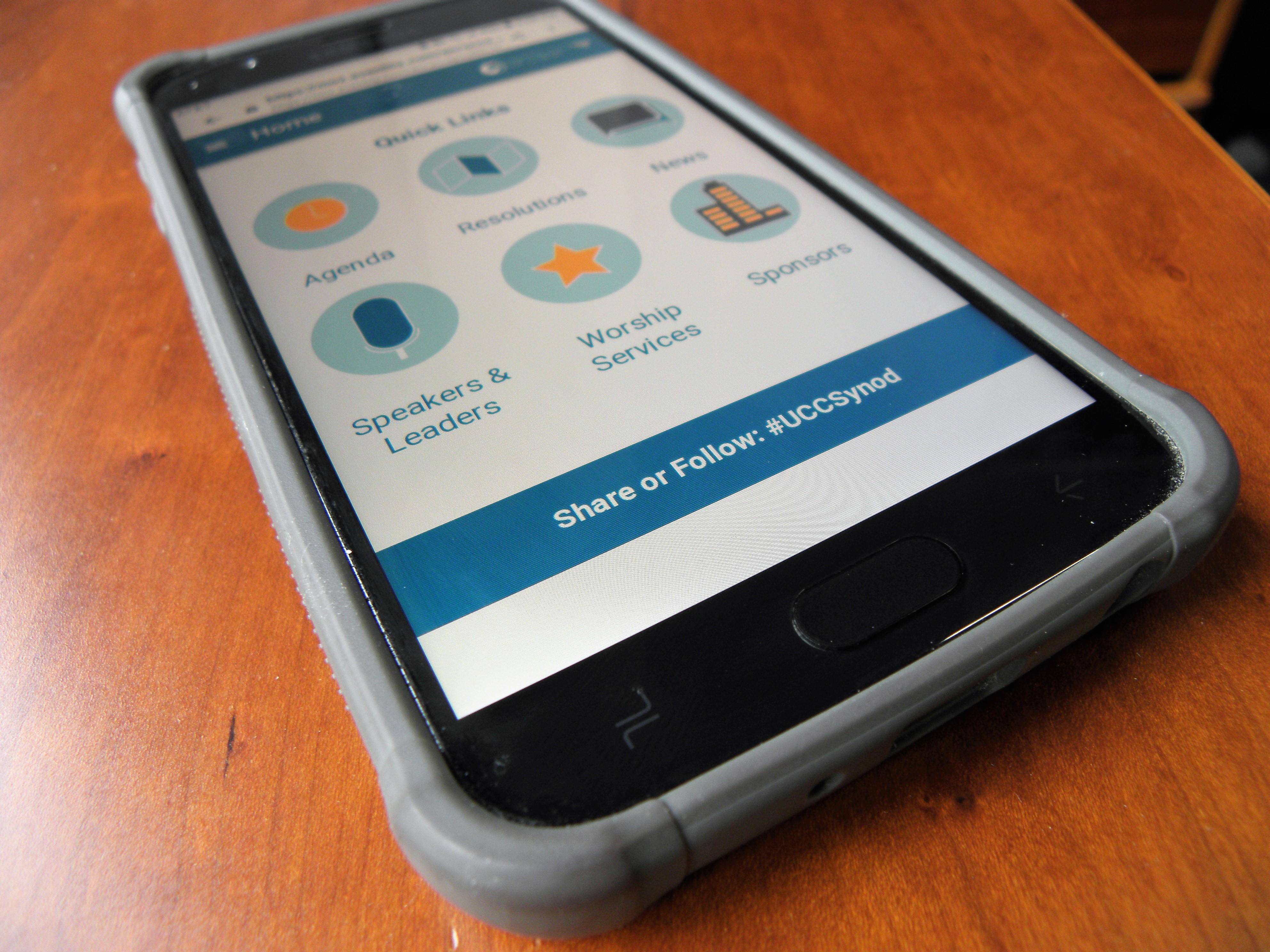 GS app on a phone