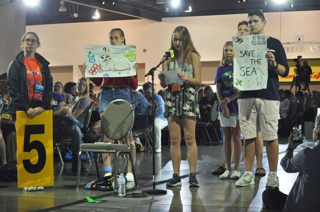 Youths speak against plastic foam