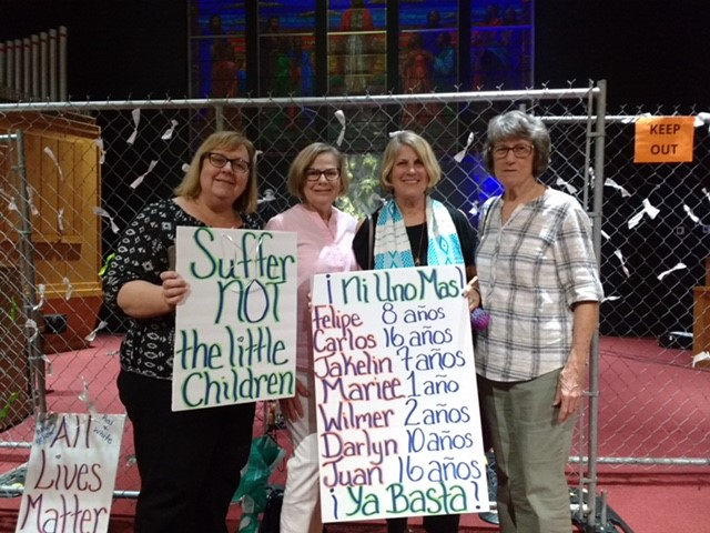 Lakewood UCC members, Lights for Liberty, 7/12/19
