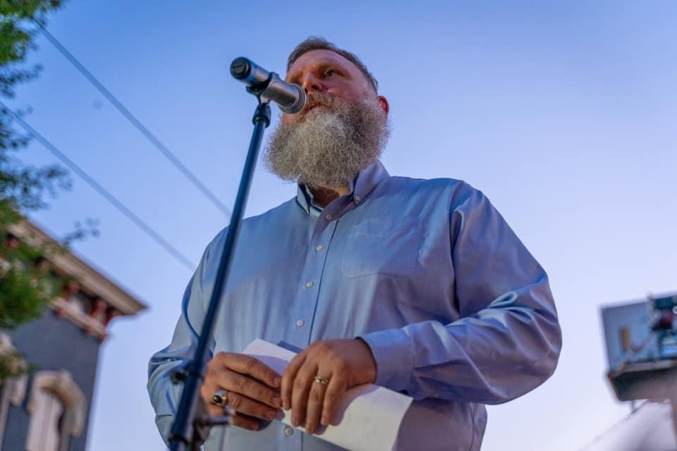 Eastman at Dayton vigil 8/4/19