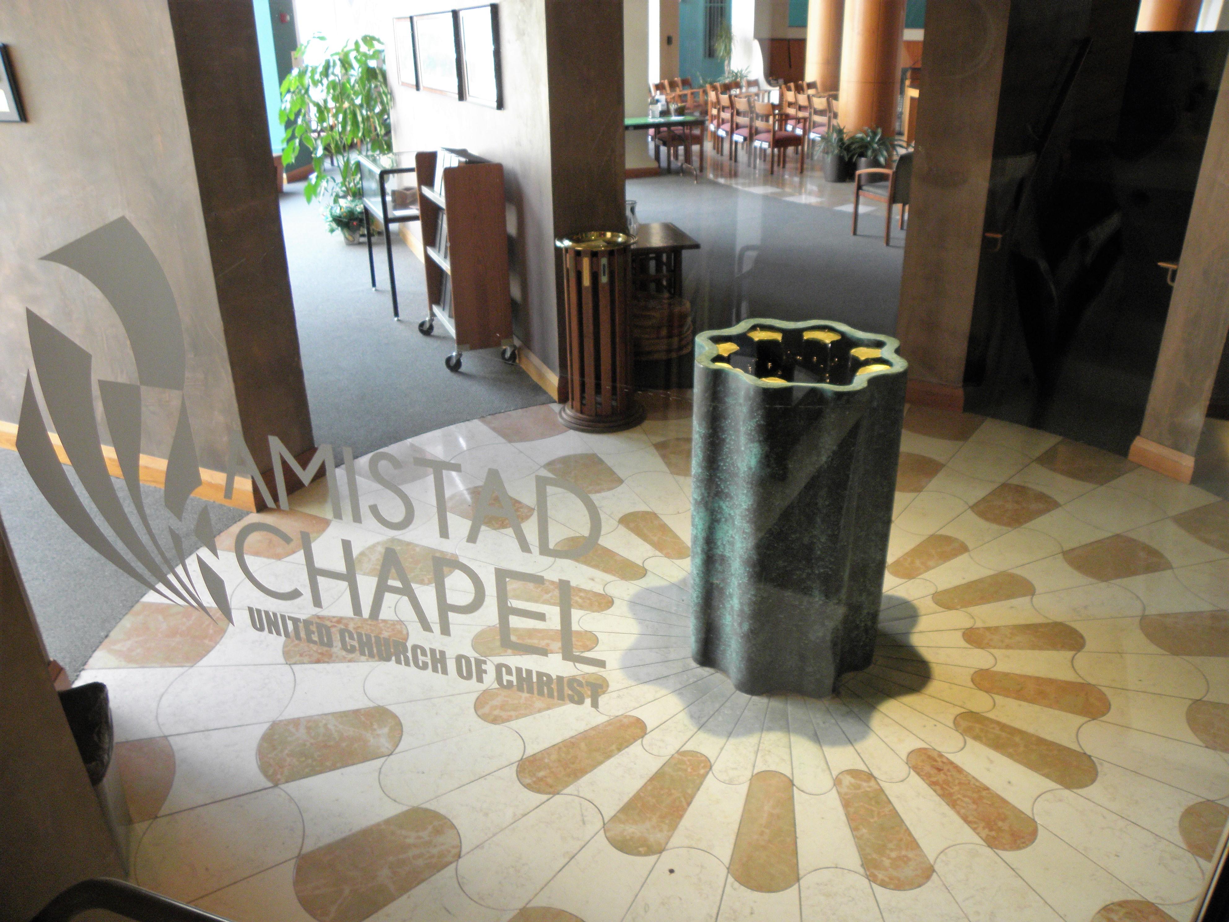 Amistad chapel entryway