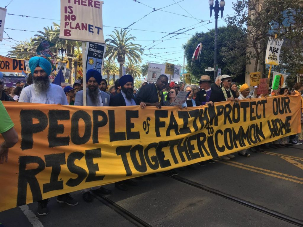 Interfaith climate march, SF, 2018