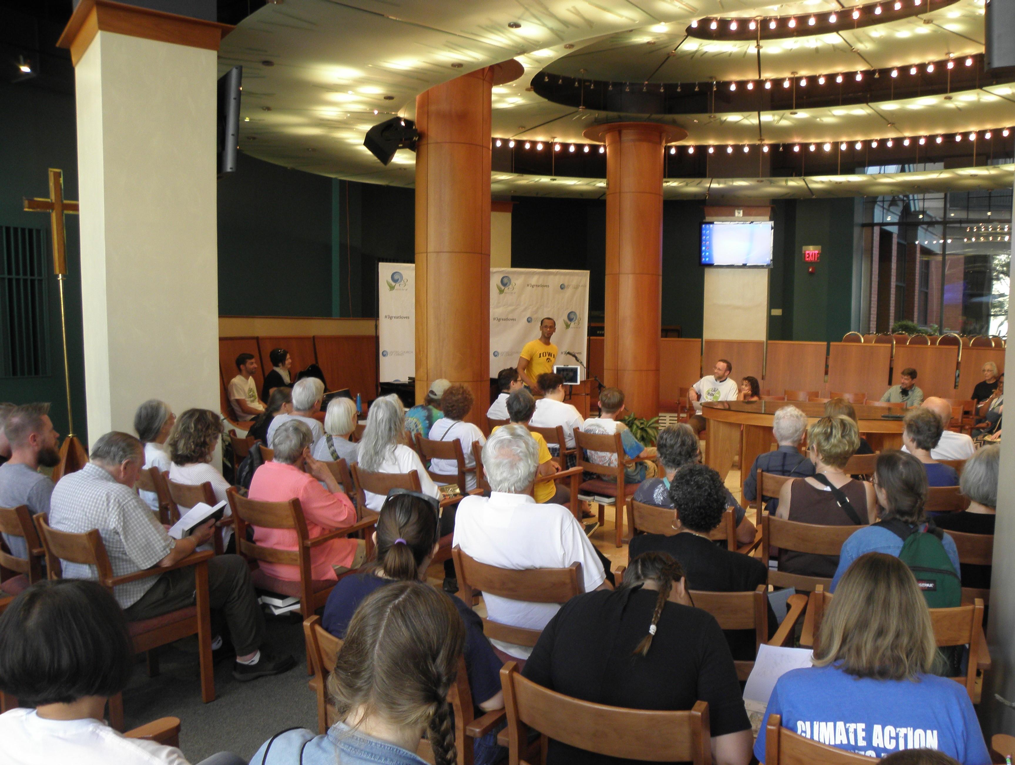 Climate Strike service, Amistad Chapel, 9/20/19