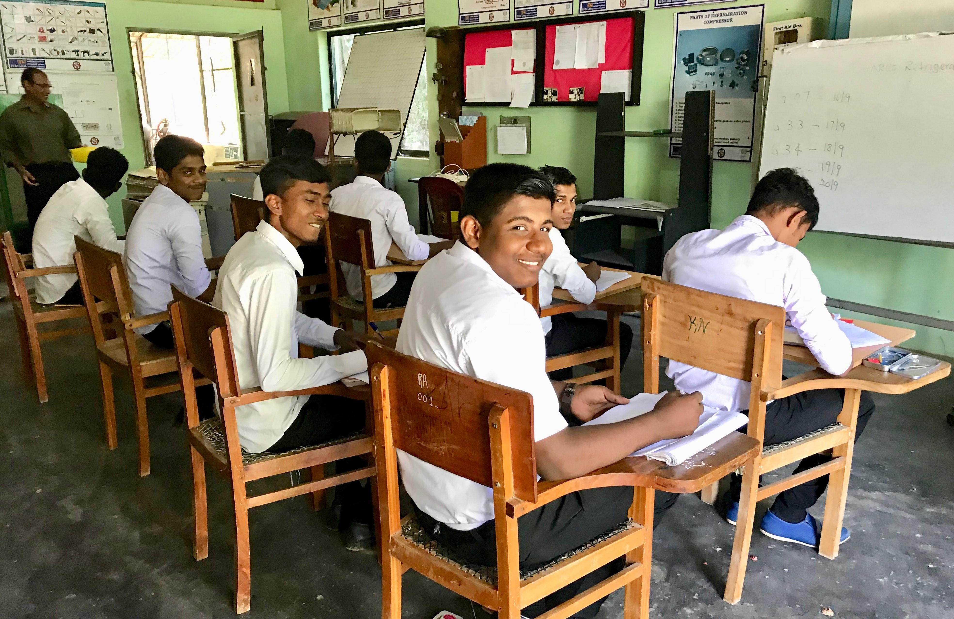 Refrigeration class, Sri Lanka, 2019