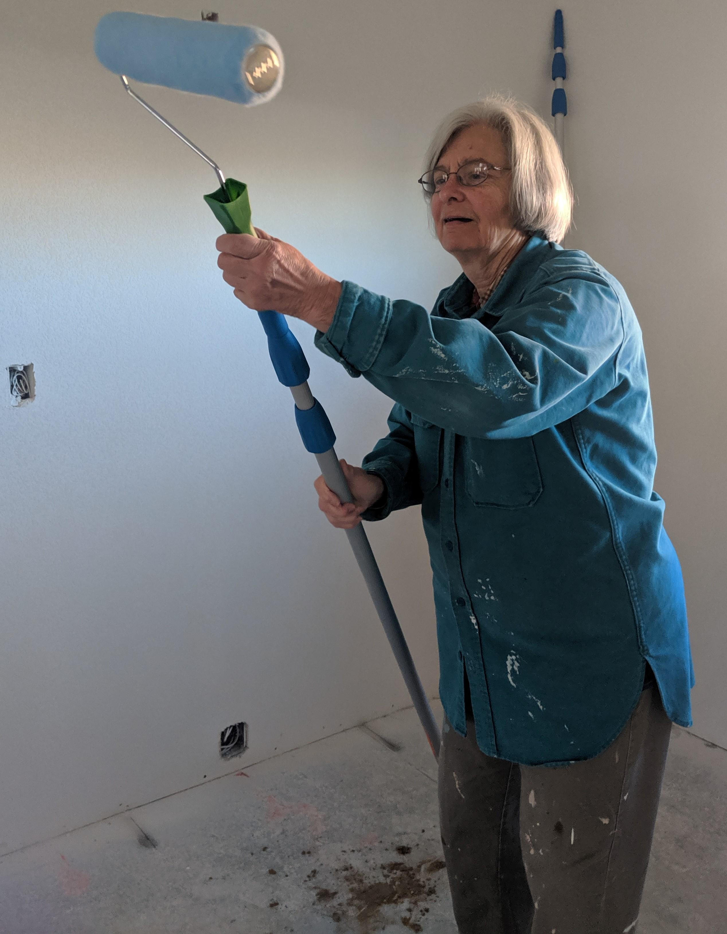 Carol Matheis-Kraft painting at Micah Homes Oct. 2019