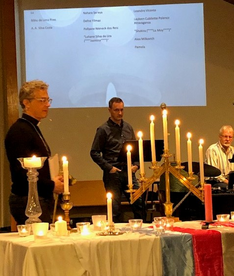 Transgender Day of Remembrance service, New Milford, Conn., 11/20/19