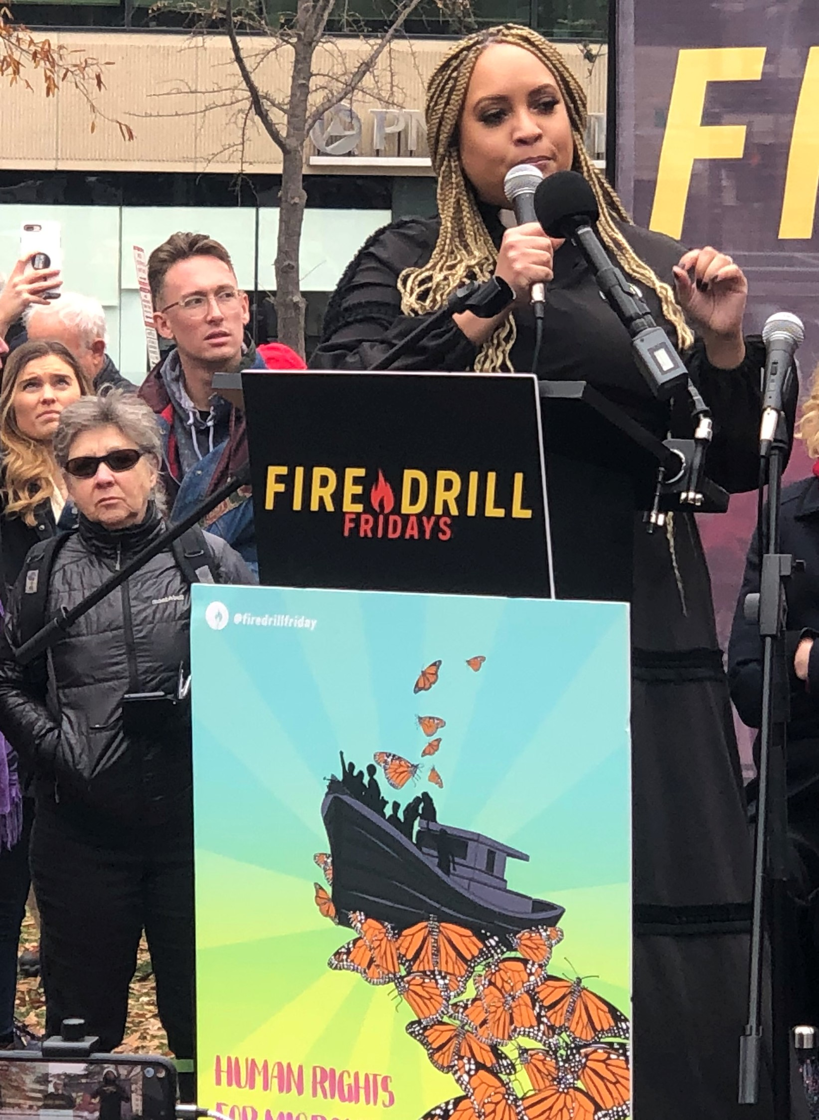 Dousa at Fire Drill Fridays podium 12/6/19 D.C.