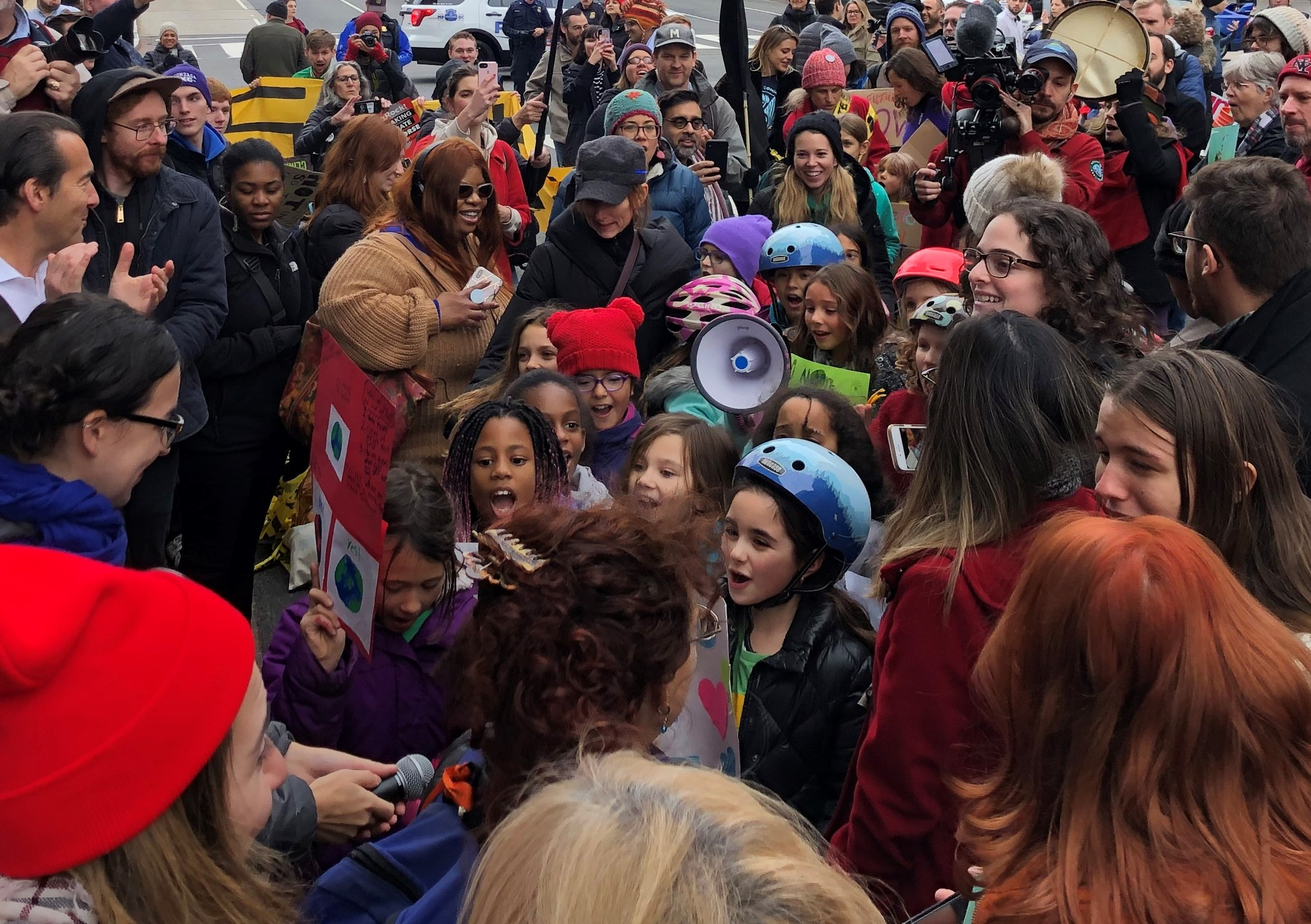 Kids chant at Fire Drill Fridays, 12/6/19 D.C.
