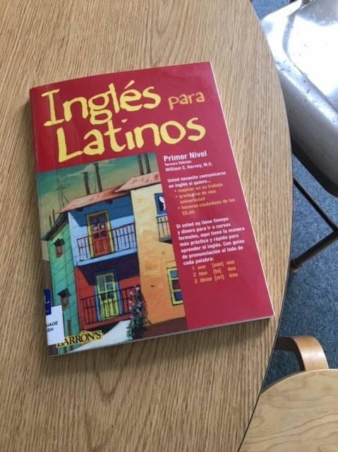 ESL book in Old Lyme sanctuary room 2019