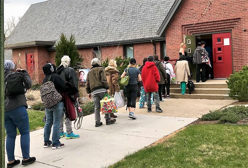 Homeless women Park Hill UCC Denver 2019