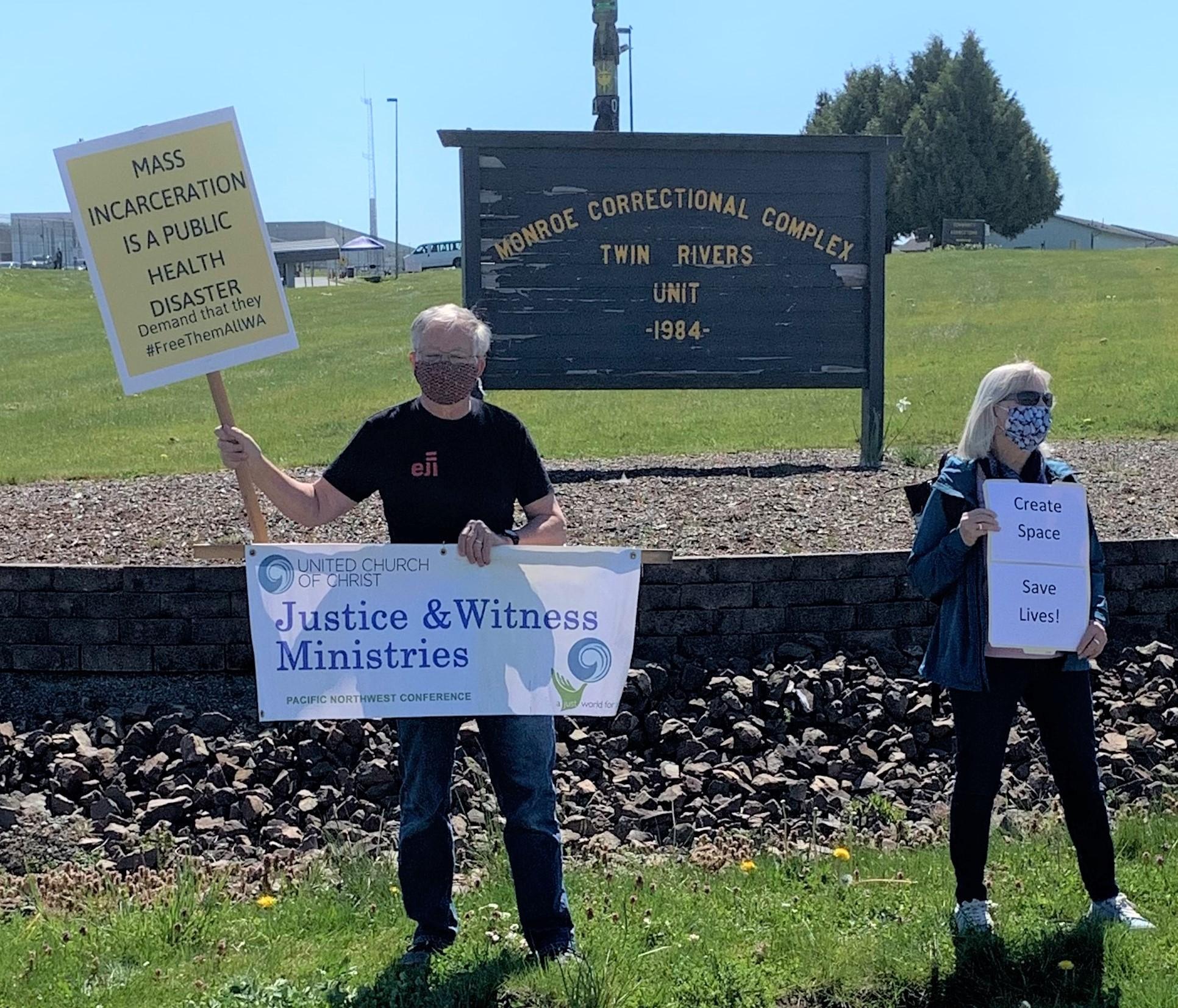 Wash. state prison COVID-19 protests 4/16/20