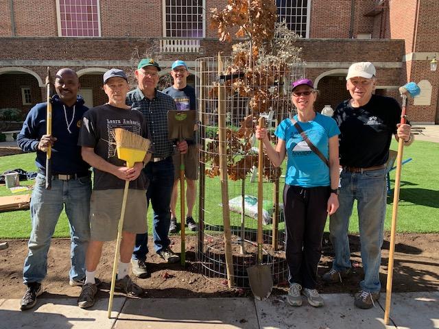 Tree planting First Church Berkeley 2/8/20