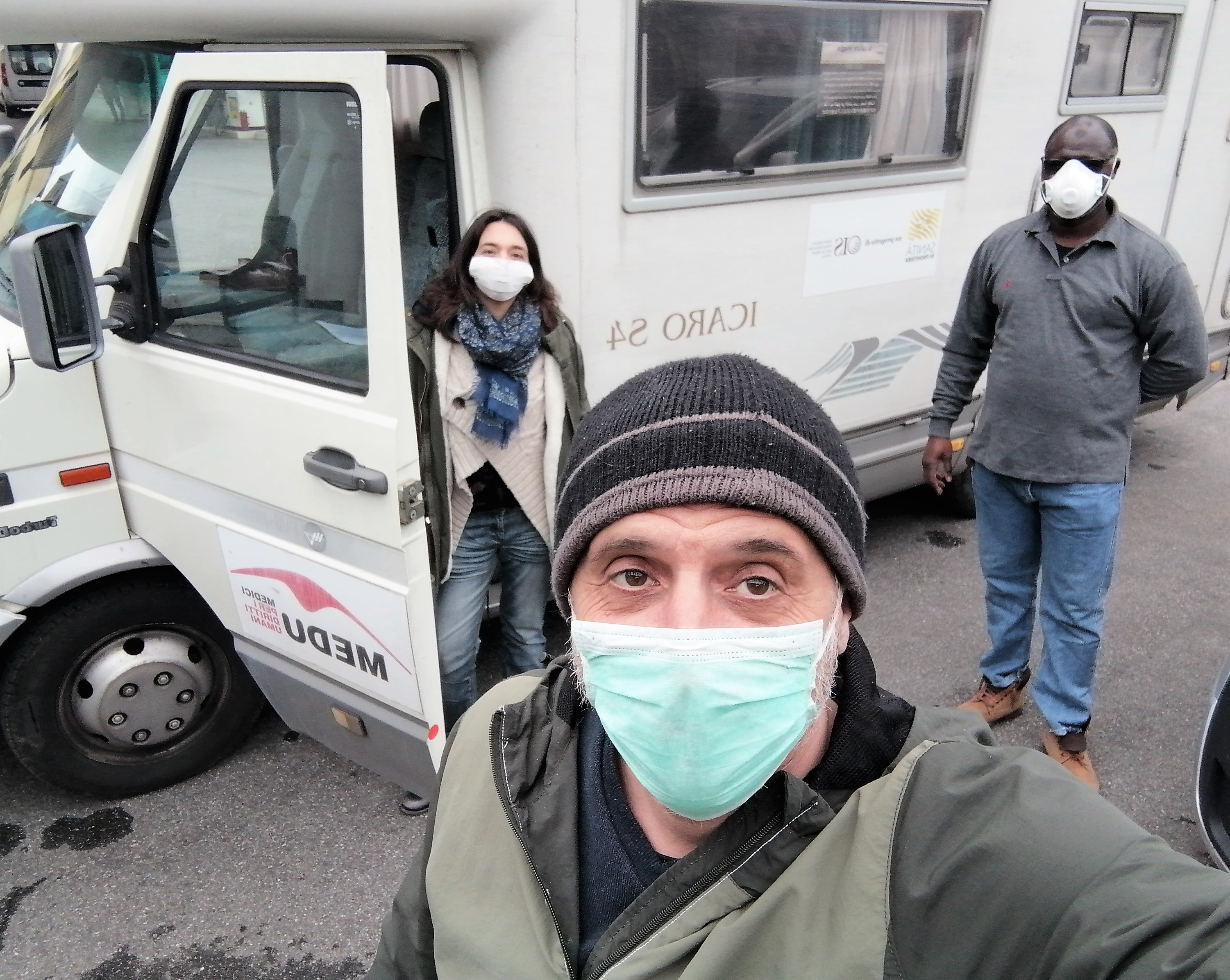 Italy refugee camp April 2020