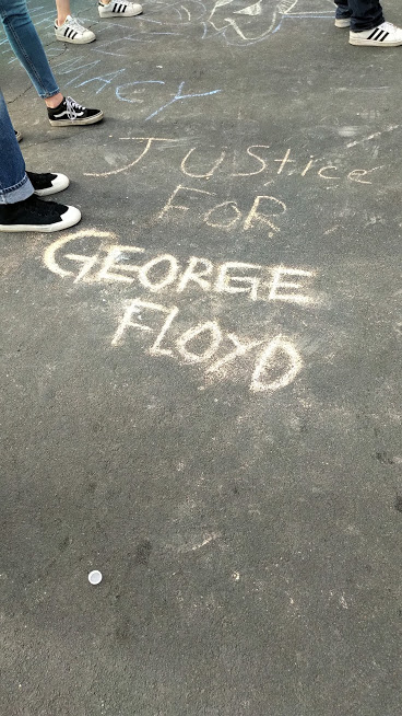 George Floyd chalk message, Minneapolis, 5/26/20